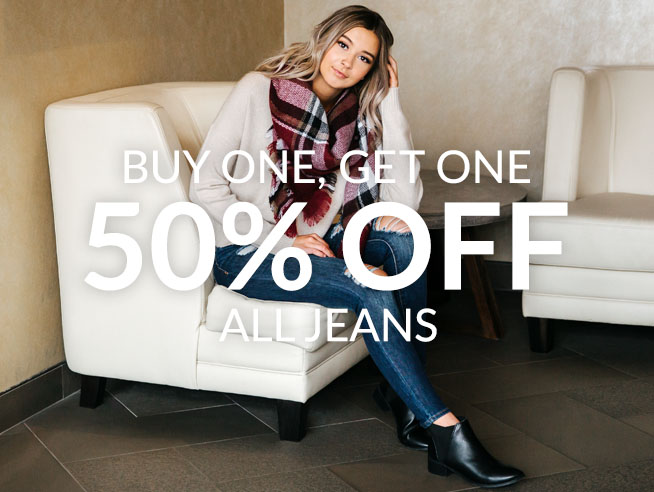 BOGO 50% jeans
